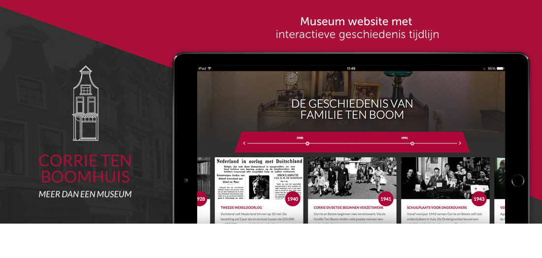 Museum website Corrie ten Boomhuis in Haarlem